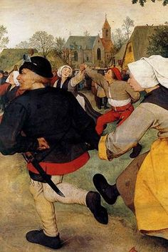 Dance of the Peasants - Detail - . High quality vintage art reproduction by Buyenlarge. One of many rare and wonderful images brought forward in time. I hope they bring you pleasure each and every tim