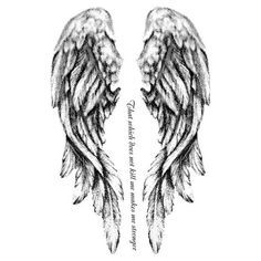 Fallen Angel Tattoo ($5) ❤ liked on Polyvore featuring accessories, body art, tattoos, fillers, wings, drawings and art