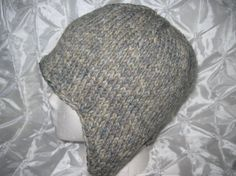Items similar to Hand Knitted Smoky Gray - Blue Heather Earflap Hat on Etsy Blue Grey, Gray, Free Knitting, Yarns, Trending Outfits, Handmade Gifts, Vintage, Kid Craft Gifts, Grey