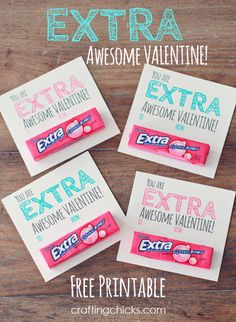Extra Awesome Valentine Free Printable