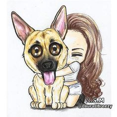 "8,285 Likes, 39 Comments - Remy LaCroix (@ugottabekittenme) on Instagram: ""when someone accurately depicts how you feel when you hug your pup. ❤✨ . : @lauracbreezy"""