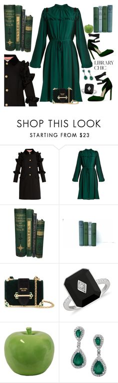 """""""Who said green can't be sexy"""" by ellenfischerbeauty ❤ liked on Polyvore featuring Gucci, N°21, Prada and Urban Trends Collection"""