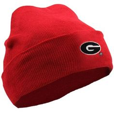 Georgia Bulldogs Newborn Knit Beanie  - Red