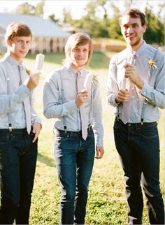 All about the jeans for complete this rustic groom and groomsmen wedding look #country #groomsmen #rustic