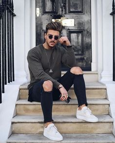 Style by @rowanrow  Via @trillestoutfit  Yes or no?  Follow @mensfashion_guide for dope fashion posts!  #mensguides #mensfashion_guide