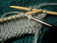 Beaded knitting. Bead as you go - an alternative to stringing all beads needed on the yarn before knitting.