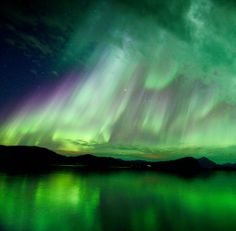 A coronal mass ejection hit Earth's magnetic field on Oct. 8th, sparking a dramatic display of Arctic lights that is only now subsiding three days later. Hugo Løhre photographed the auroras over Lekangsund, Norway, on Oct. 10th