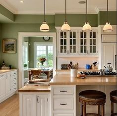Sage Painted Kitchen Cabinets Color Ideas For on