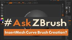 "#AskZBrush: ""How can I create an Insert Mesh Curve Brush?"" Ask your questions through Twitter with the hashtag #AskZBrush. Our team of experts at Pixologic w..."