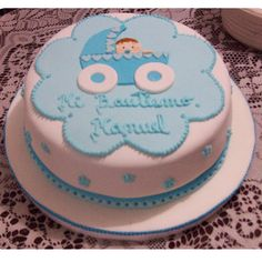 Las 35 mejoras tortas para celebrar un bautismo de niños - Mujeres Femeninas Torta Baby Shower, Boy Baptism, Christening, Baby Shawer, Love Craft, Beautiful Cakes, Fondant, Cake Decorating, Birthday Cake