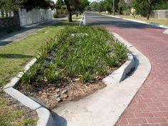 Road-side detention basin - Melbourne
