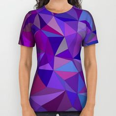 Triangle abstract 2 All Over Print Shirt by David Zydd #PrintedGift