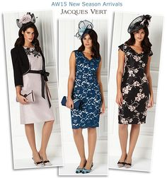 Jacques Vert AW15 dress and jacket occcasionwear autumn winter wedding guest outfits