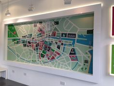 Giant feature wall map at the Dublin Visitor Centre...