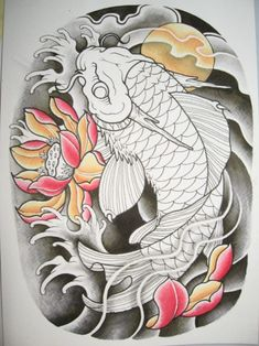 Koi Tattoo Meanings And How To Get One You Truly Deserve? - Koi Tattoo Meanings And How To Get One You Truly Deserve? – dragon koi fish tattoo designs: You - Koi Tattoo Design, Sketch Tattoo Design, Tattoo Designs, Koi Dragon Tattoo, Dragon Koi Fish, Japanese Koi Fish Tattoo, Koi Fish Drawing, Koi Tattoo Sleeve, Japanese Sleeve Tattoos