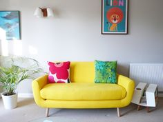 MADE.COM - 'We just wanted to say a big thank you for our amazing Jonah Sofa. It is fantastic and well worth the wait! We love the colour and are so pleased how well it looks in the living room. It's super comfortable and we've already had lots of compliments on it. This is our second purchase from made and we have been delighted both times. We'll definitely buy again and would happily recommend.' - Bo & Michael, London.    Neon is on trend but what do YOU think of it?