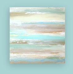 "Abstract Acrylic Painting Original Fine Art Titled: Sandcastles II 30x30x1.5"" by Ora Birenbaum"