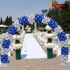 Balloon Arch Frame, Balloon Stands, Balloon Backdrop, Metallic Balloons, Blue Balloons, Mylar Balloons, Photo Balloons, Latex Balloons, Wedding Ideas