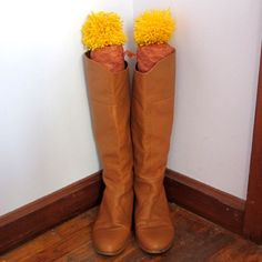 DIY Boot Stuffers: These easy-to-assemble boot stuffers wake up, boots to keep them standing up straight so your cold-weather footwear stays neat and tidy in your closet! Written by Sonya Nimri on eHow.com