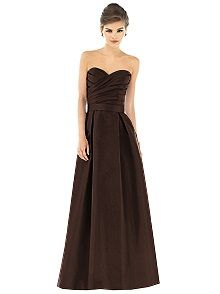 Alfred Sung D539 #brown #bridesmaid #dress