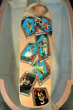 NOS Skateboard Deck Powell Peralta Barbee Tarot Cards Mini. Original vintage dec
