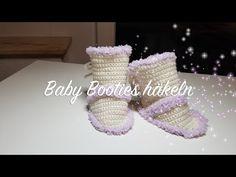 Baby Booties häkeln | Süße Schuhe für Baby häkeln | Babyschuhe häkeln|Häkel Anleitung von Häkelmädel - YouTube