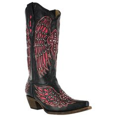 Corral Women's Cross and Wing Inlay Western Boots with crystals. I have this boot, and love it!