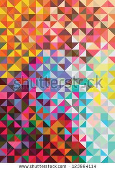 triangle mosaic background. vector illustration by monbibi, via ShutterStock