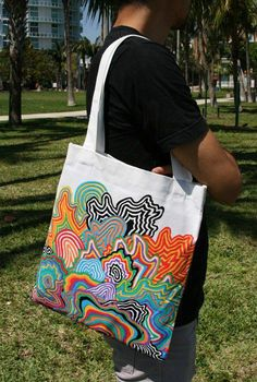 Sacs Tote Bags, Diy Tote Bag, Tote Bags Handmade, Canvas Tote Bags, Reusable Tote Bags, Canvas Totes, Custom Tote Bags, Tods Bag, Painted Bags