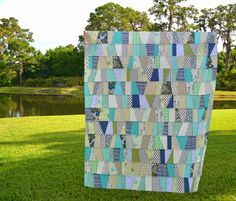Jumbler Quilt - Tutorial from The Sewing Chick's blog