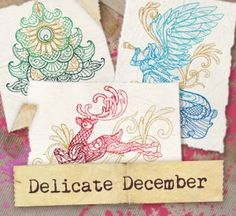 Delicate December (Design Pack) design (UTP1203) from UrbanThreads.com @Rebecca Benson - I want this