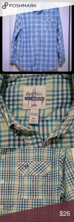 Men's Guy Harvey button-up XXL NWOT Long sleeve, light weight Guy Harvey shirt, pocket on left side of chest, signature on back, New shirt; NOTE has size XXL but runs a little smaller, like an XL. Great looking shirt and material feels good. Guy Harvey  Shirts Casual Button Down Shirts