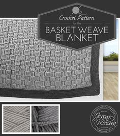 This is nice thick blanket that is great to cuddle up under on a chilly day. The basket weave stitch gives it a beautiful texture and pattern.…