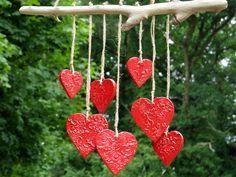 Keramik+Garten+Windspiel+mit+Treibholz+Herz+Rot+von+gedemuck+auf+DaWanda.com
