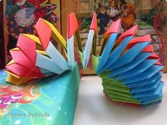 Master class, crafts, product, dynamic Crafts Origami Origami modular: Rainbow Slinky spring origami))) Paper 1 April Holidays.  Photo 1