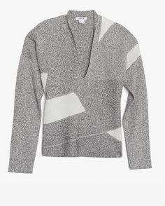 Helmut Lang Geo V Neck Sweater $370