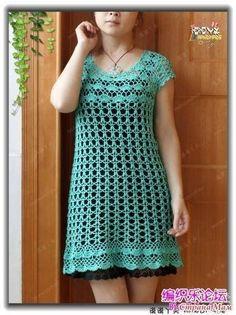 Delicadezas en crochet Gabriela: Vestido ganchillo