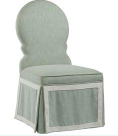 Love the framed panel on skirt of chair