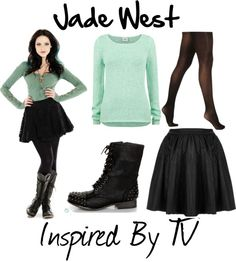 Jade West this outfit is perfect for _____ Slytherin girl, who does not have a name yet