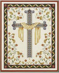 Punto De Cruz Janlynn His Cross Counted Cross Stitch Kit 14 Count), Beige off-white - Counted Cross Stitch Patterns, Cross Stitch Charts, Cross Stitch Designs, Cross Stitch Embroidery, Embroidery Patterns, Quilt Patterns, Cross Stitching, Religious Cross Stitch Patterns, Crosses