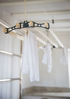 Start a greener way of living with this charmingly traditional Ceiling Clothes Dryer