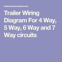 46 Best Trailer Wiring Diagram images in 2019 | Trailer ...  Blade Trailer Wiring Diagram on