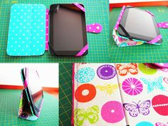 Bar-borka: Návod - obal na tablet III. / Tablet (i-pad) cover sewing tutorial, part III. Sewing Tutorials, Silhouette Cameo, Sunglasses Case, Projects To Try, Lunch Box, Ipad, Cool Stuff, Cover, How To Make