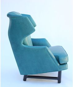 Wormley's design sensibility was shaped by frequent trips to Europe.  On one, he arranged to meet the architect and designer  Le Corbusier and the Art Deco master Emile-Jacques Ruhlmann.  He also was  influenced by the Scandinavian designs of his day. This chair is a particularly strong example.