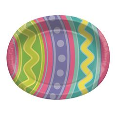 Eggcellent Oval Platters 10in x 12in 8ct | Wally's Party Factory #easter #egg #plate