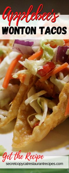 Applebees Recipes, Copykat Recipes, Chicken Wonton Tacos Applebees Recipe, Chilis Copycat Recipes, Dog Recipes, Mexican Food Recipes, Cooking Recipes, Mexican Dishes, Turkey Recipes
