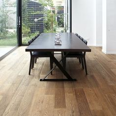 Smoked and black European oak timber floorboards