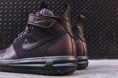 The Nike Lunar Force 1 Flyknit Workboot In Burgundy Is Available Now