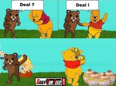 Winnie-The-Pooh-And-The-Pedobear.... And this is why i hate Winnie the Pooh