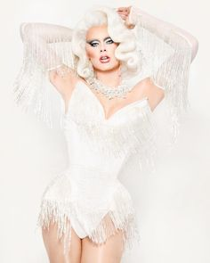 ⋆☽Scarlet Envy☾⋆ Runway lewk, category is: Fringe, photography by Matthew Pandolfe ( Drag Queen Costumes, Drag Queen Outfits, Wedding Wear, Wedding Suits, Wedding Dresses, Rupaul Drag Queen, Violet Chachki, Adore Delano, Queen Makeup